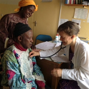 Dr. Jennifer Thoene performs medical checks for Mission Doctors Association in Cameroon