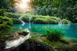 20749156-cascades-national-park-in-guatemala-semuc-champey-at-sunset